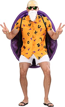 Amazon Com Dragon Ball Z Master Roshi Costume Adult Anime Cosplay Costumes For Men Clothing