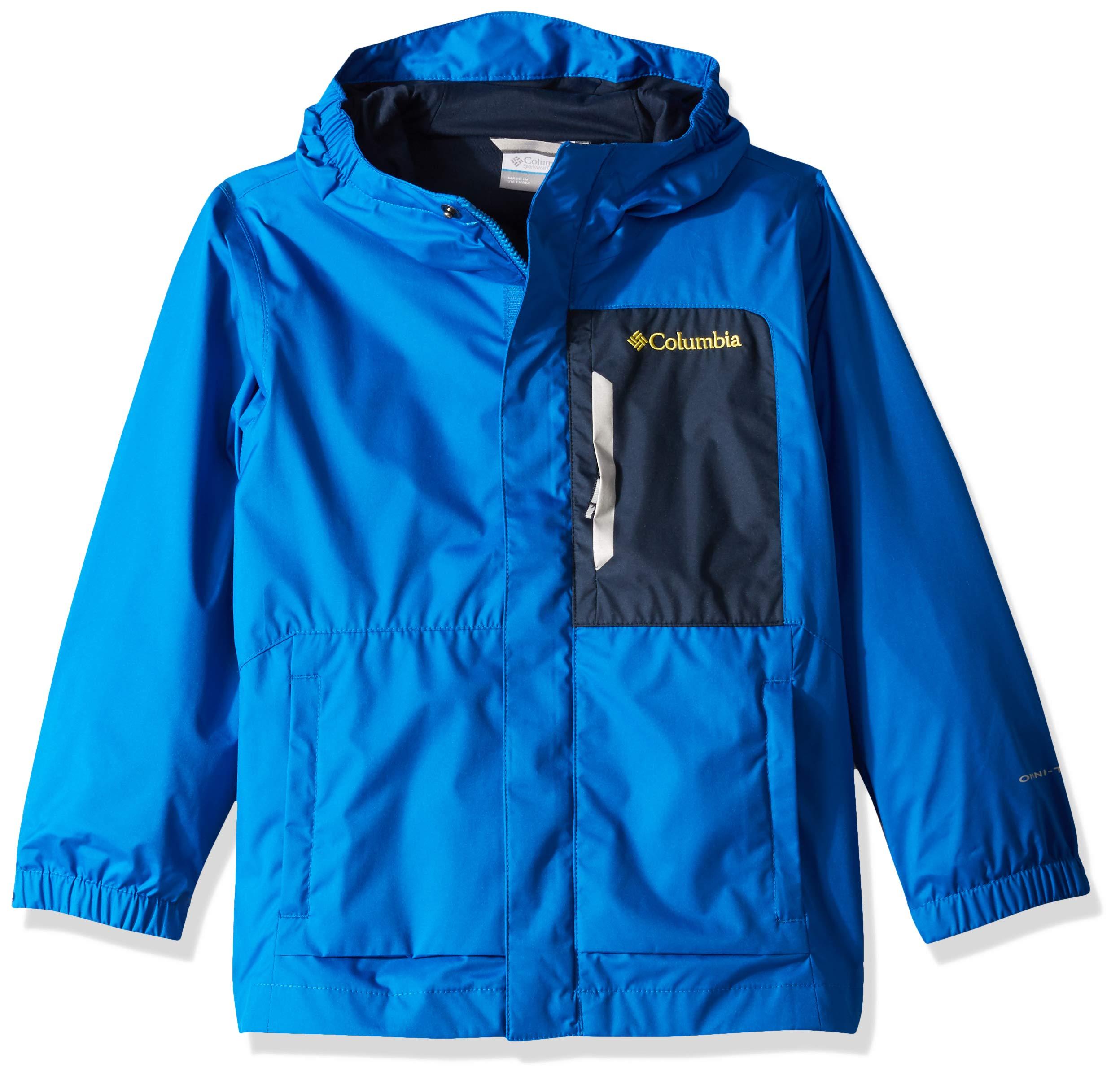 Columbia Boys Splash S'MoreRain Jacket, Super Blue, Collegiate Navy, Medium