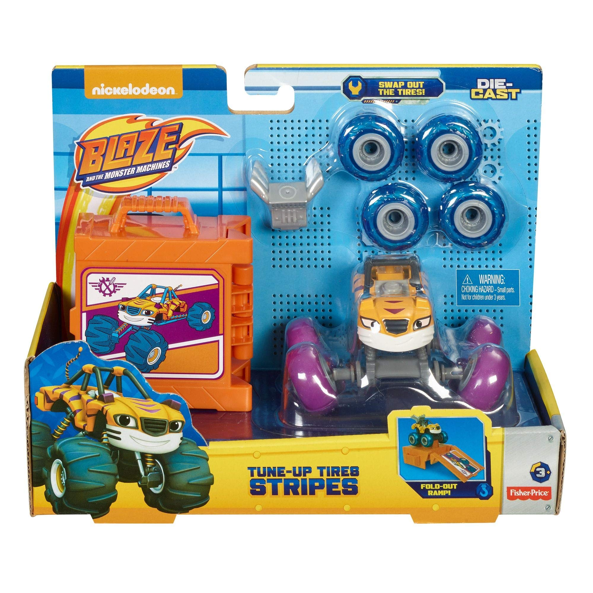 Fisher-Price Nickelodeon Blaze & the Monster Machines Tune-Up Tires, Stripes by Fisher-Price (Image #7)