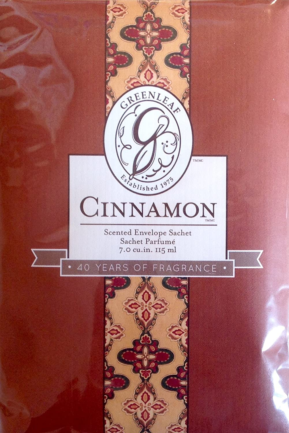Greenleaf Large Scented Sachet- Cinnamon heart of the country