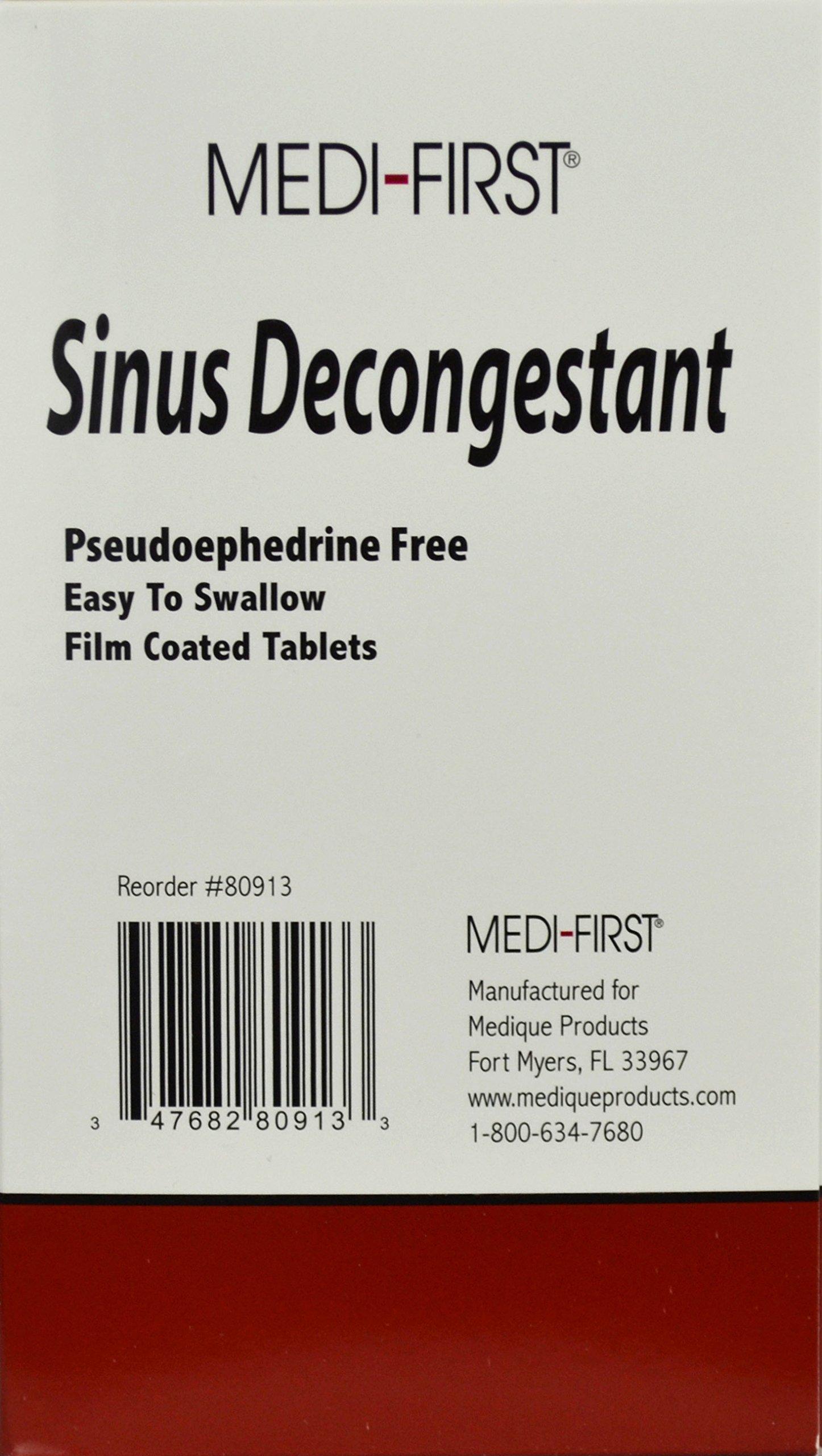 Medique Products MS71265 Sinus Decongestant, Tablets (1,500)