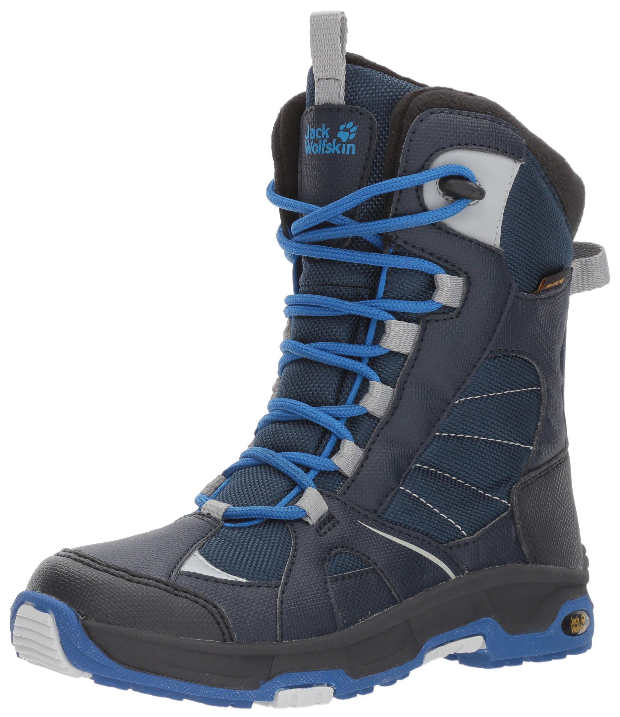 Jack Wolfskin Boys' Ride Texapore Snow Boot, Vibrant Blue, 7.5 M US Big Kid