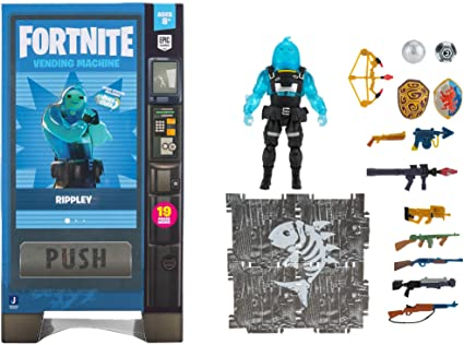Fortnite Best Back Blings Amazon Com Fortnite Vending Machine Includes Highly Detailed And Articulated 4 Inch Rippley Figure Weapons Back Bling Building Materials More Outfits Dropping Soon Toys Games