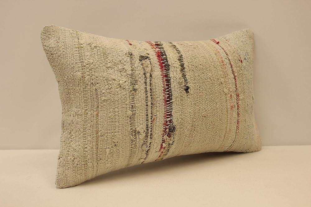 Embroidered Pillow Woven Pillow 1360 Turkish Pillow Cover Kelim Kussen Long Pillow Red Pillow Traditional Pillow Kilim Pillow 12x36