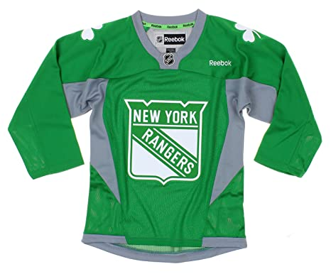 a7ee6f60f Image Unavailable. Image not available for. Color  NHL New York Rangers  Youth Boys St. Patrick s Day Green Replica Jersey
