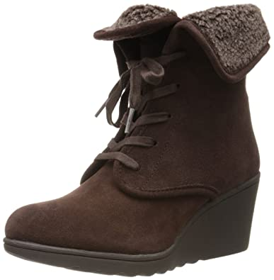 White Mountain Women's Koko Boot,Brown Suede,8.5 ...