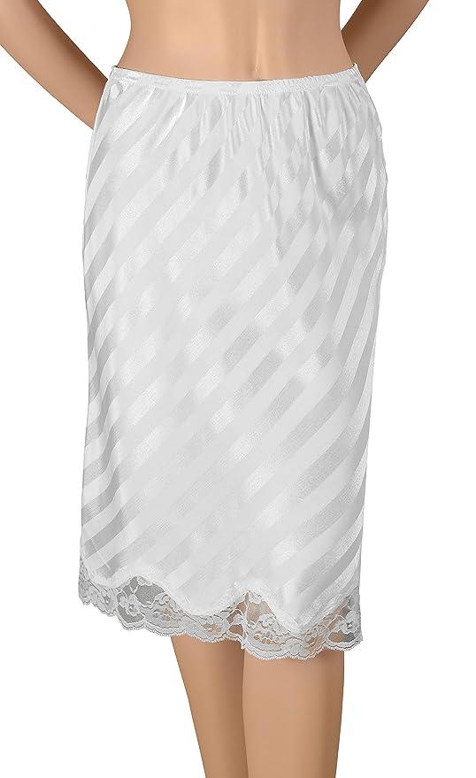 Gemsli Womens Non-Cling Nylon Half Slip HK300 Black