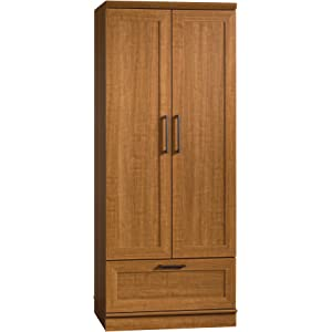 sauder homeplus wardrobe storage cabinet sienna oak Amazon.com: Sauder 411963 Homeplus Storage Cabinet, L: 23.31