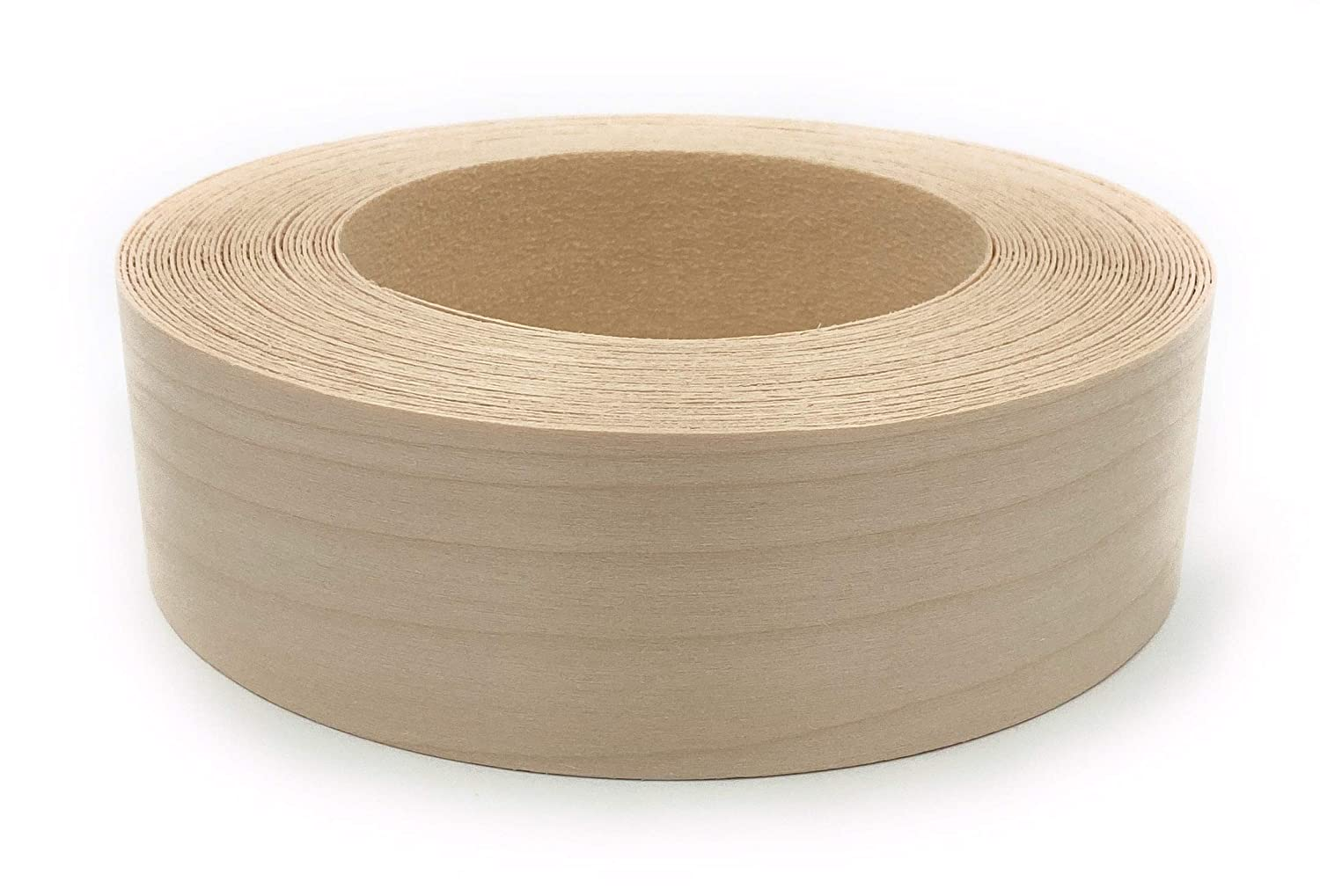 Edge Supply Birch 1-1//2 x 50 Roll Pre-Finished Clear UV Laquer Finish Wood Edging Preglued Flexible Wood Tape Easy Application Iron On with Hot Melt Adhesive Veneer Edge Banding