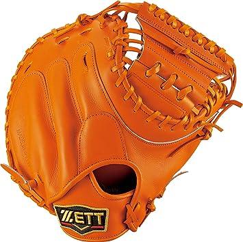 オレンジ キャッチャーミット 野球 グローブ 硬式 BPROCM82 5600 ゼット 袋付