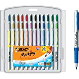 BIC Marking Fashion Permanent Marker, Ultra Fine Point, Assorted Colors, 36-Count