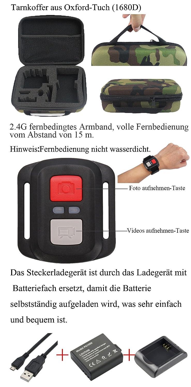 Und Dual Wasserdicht Verbesserten Fernbedienung 2 4k Cam Wifi Bildschirm Kostenlose Greatcool Action Kamera Accessoires Mit Wireless Camera Batterien WE2eY9DHI