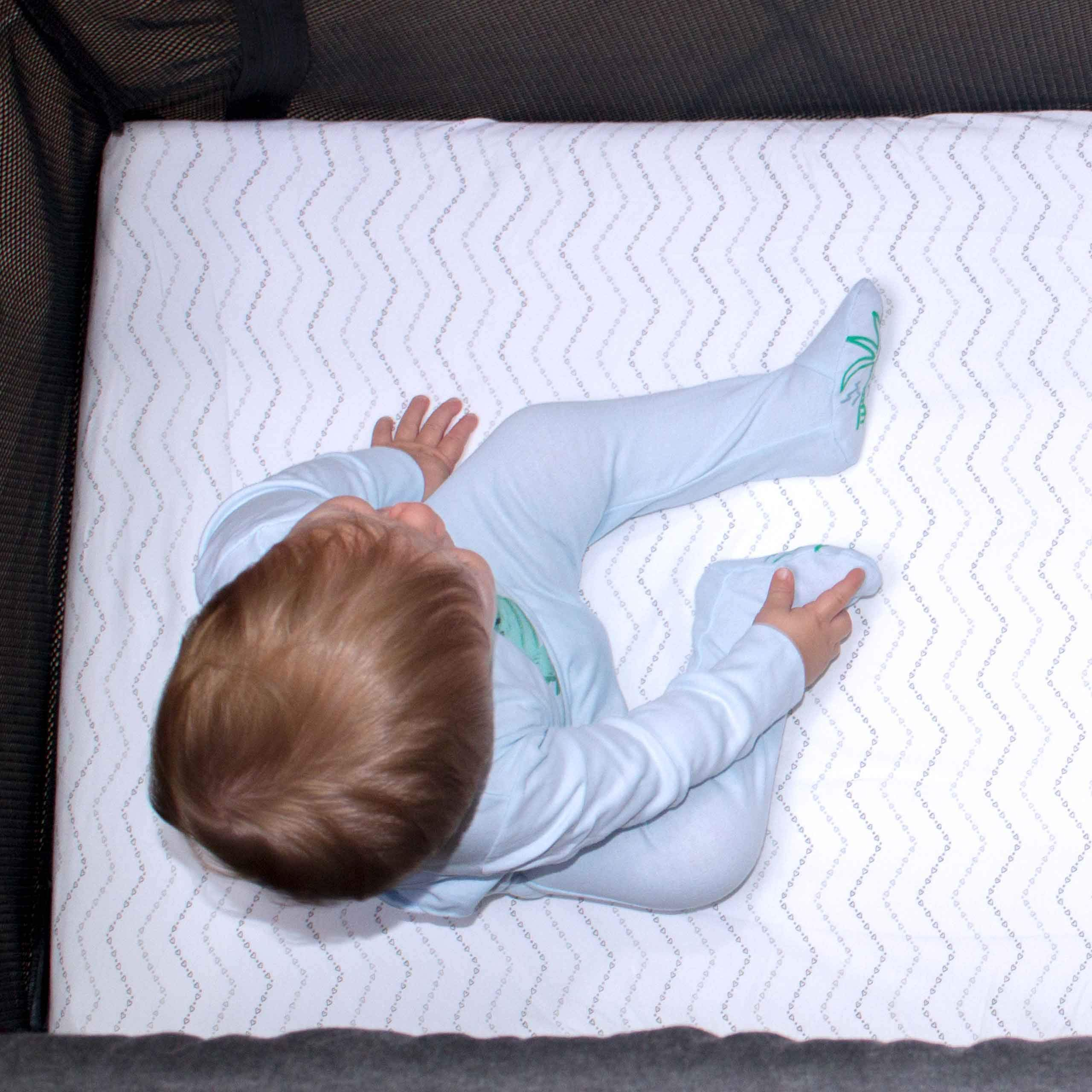 Guava Lotus Travel Crib Sheets Fitted Crib Sheets for The New 4 TAB Mattress ONLY Set of 2 for Boys /& Girls Baby and Toddler - 100/% Organic Cotton Crib Sheets