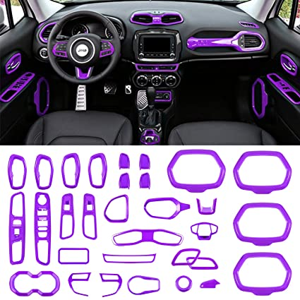 Danti Car Interior Accessories Decoration Cover Trim Air Conditioning Vent  Decoration & Door Speaker & Water Cup Holder & Window Lift Button Covers