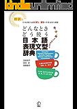 新装版 どんなときどう使う 日本語表現文型辞典 Essential Japanese Expression Dictionary: A Guide to Correct Usage of Key Sentence Patterns (New Edition) 新版 在什么情况下使用如何使用 日语表现句型辞典 신장판 ... 日语表现句型系列 그때 그때 다른 상황별 일본어 표현 문형 시리즈