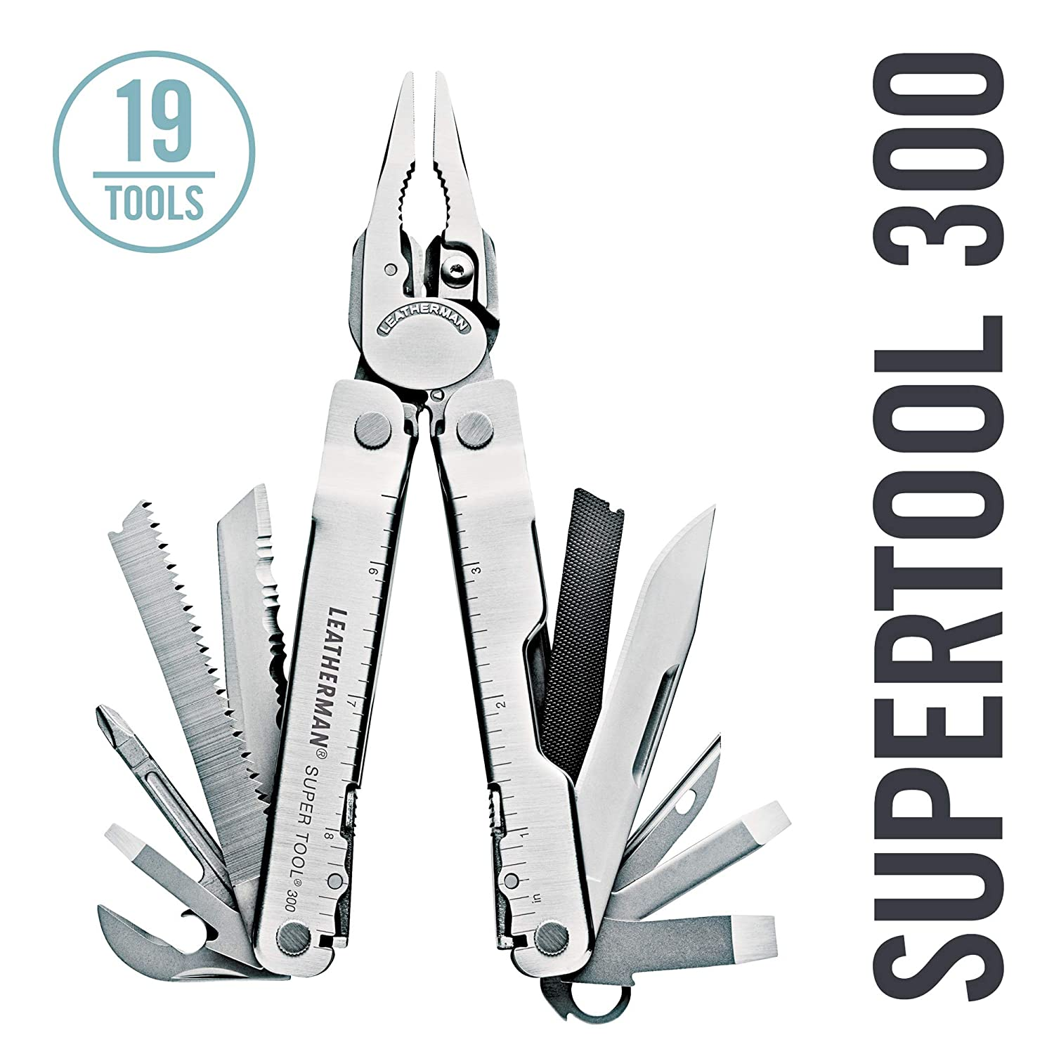 Leatherman Super Tool 300 19tools Acero inoxidable alicate multiherramienta - Alicates de múltiples herramientas (Acero inoxidable, Acero inoxidable, ...