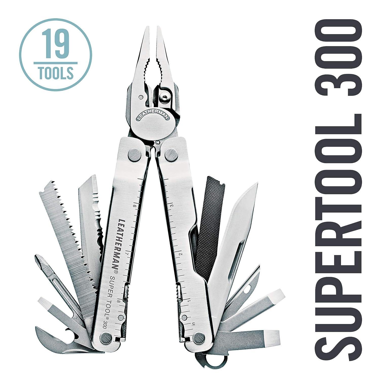 Leatherman Super Tool 300 19tools Acero inoxidable alicate multiherramienta - Alicates de múltiples herramientas (Acero inoxidable, Acero inoxidable, ...