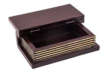 Luxe livre box antiqua black en bois massif boîte à trésor style
