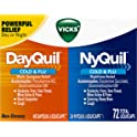 72-Count Vicks Dayquil & Nyquil Cough, Cold & Flu Relief Combo Liquicaps