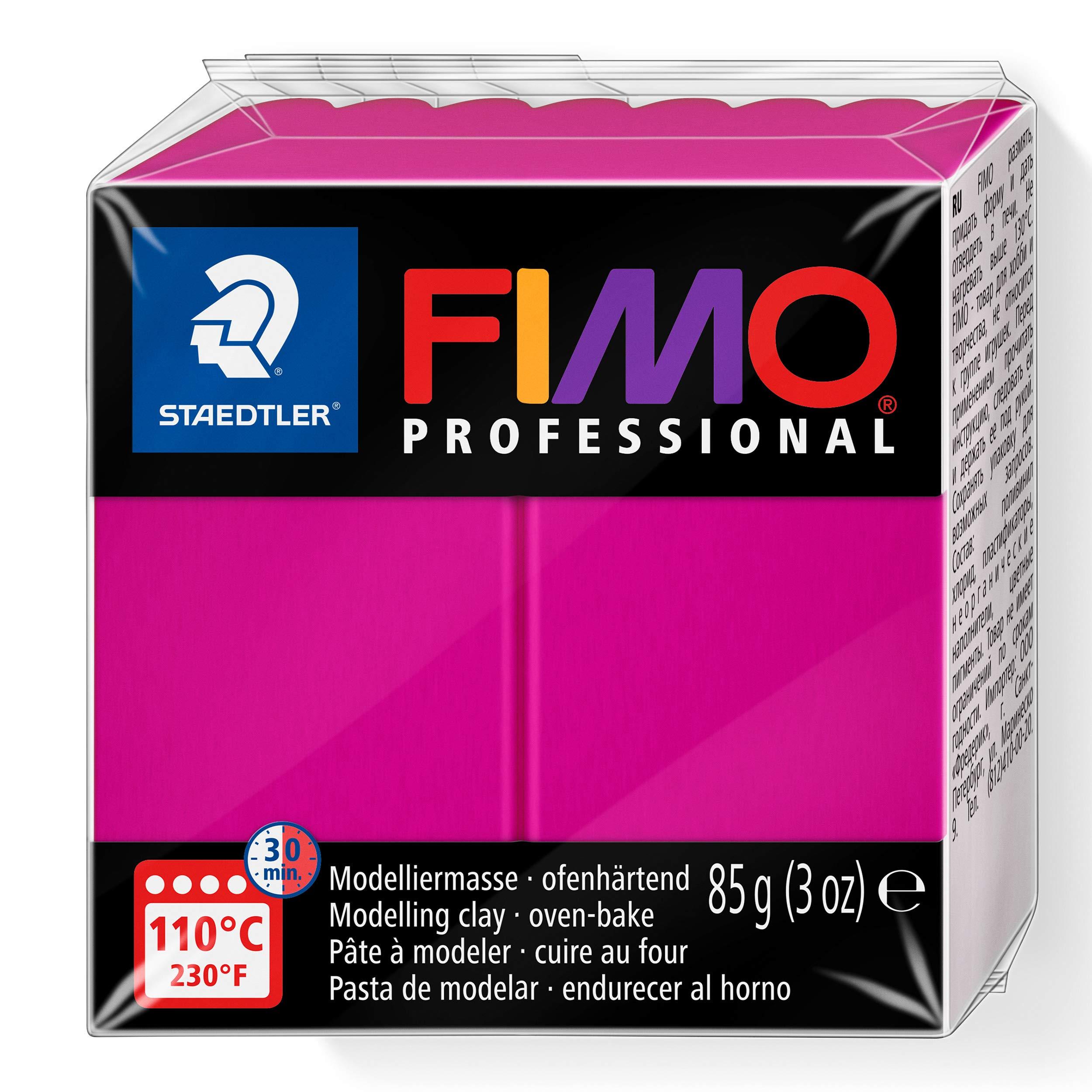Staedtler Fimo professional Individual Standard Blocks 85g, True Magenta, 85 g