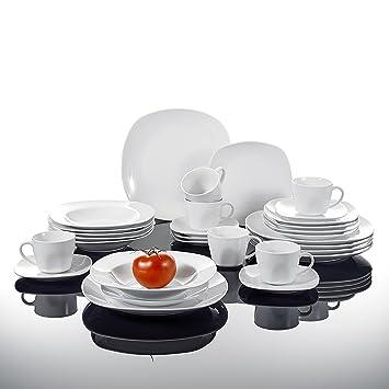 94d1e335e1da8 MALACASA Elisa 30pcs Service de Table 6 Personnes Porcelaine