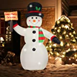 Fanshunlite Christmas Inflatable 8 FT Snowman