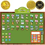 BEST LEARNING i-Poster My Learning Board - Educational Posters for Preschoolers & Toddlers - ABC Alphabet Preschool Toddler Kids - Interactive Talking Education Toys for Kindergarten Classroom Wall