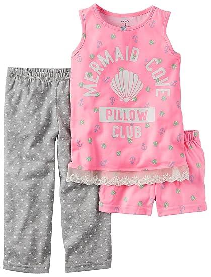 9a585274c6df Amazon.com  Carter s Girls 3-Piece Mermaid Pajama Set Pink (4)  Clothing