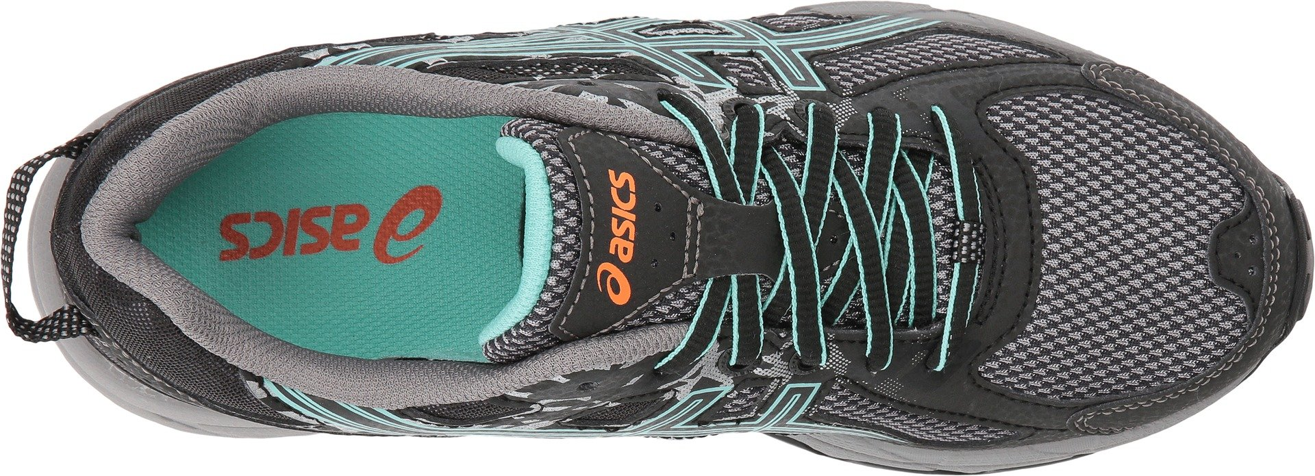 ASICS Womens Gel-Venture 6 Running Shoes Black/Ice Green/Orange 5 B(M) US by ASICS (Image #2)