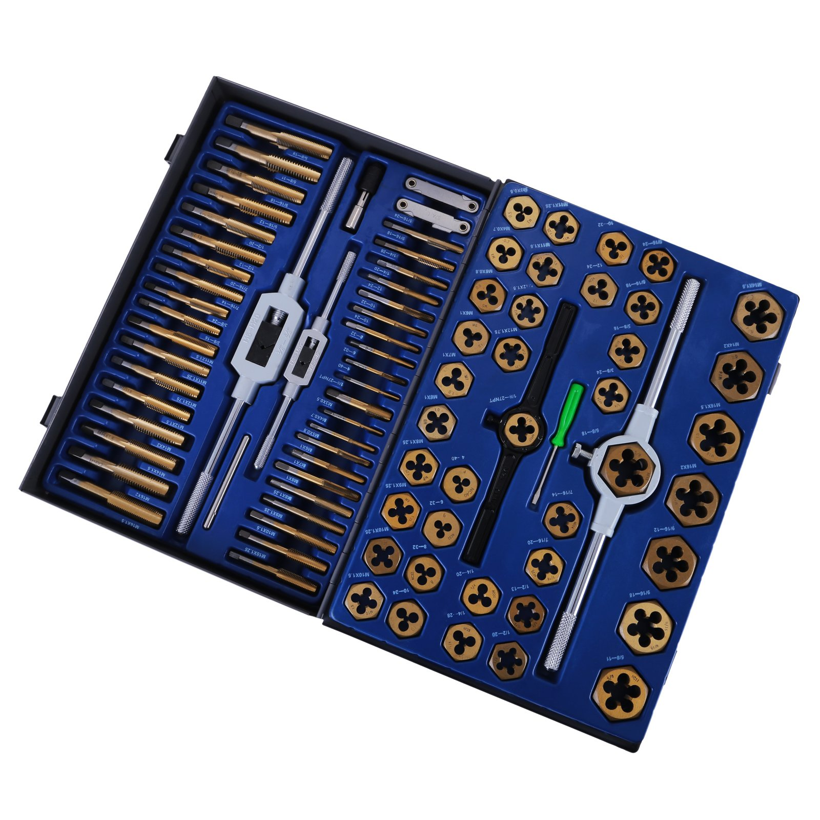 Happybuy Tap and Die Set 86PCS Combination SAE / Metric Tap and Die Kit for Cutting External and Internal Threads with Storage Case by Happybuy (Image #5)