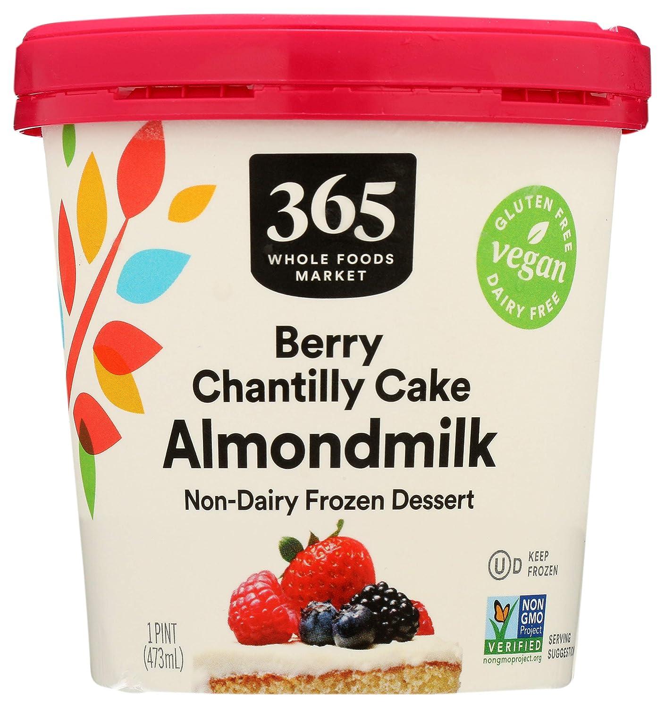 365 by Whole Foods Market, Non-Dairy Frozen Dessert, Almondmilk - Berry Chantilly Cake, 16 Ounce