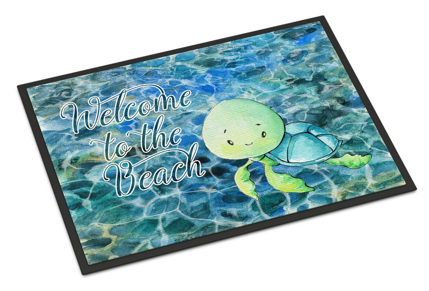 Caroline 's Treasures Sea Turtle Welcomeドアマット、24