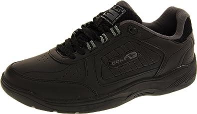 Gola Hombre Encaje Negro Cuero Real Ajuste Ancho Zapatillas De Deporte EU 43: Amazon.es: Zapatos y complementos