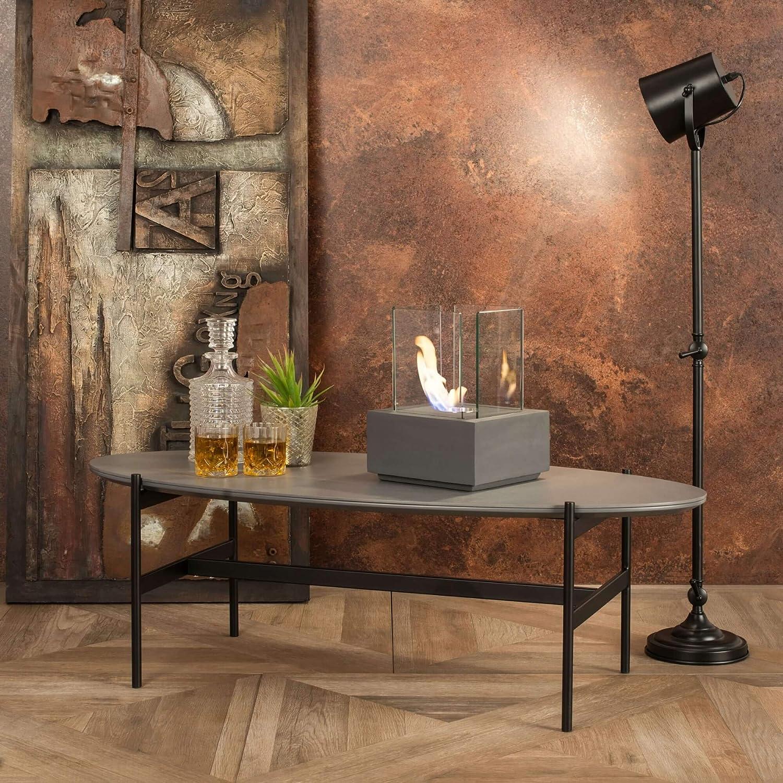 Stones Camino a Bioetanolo da Tavolo 22x22 cm FP//042 Grigio