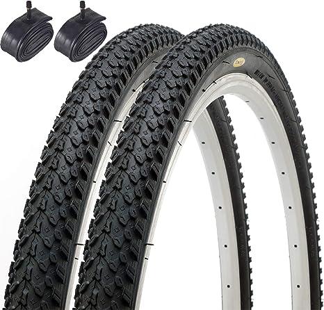 Fincci Par Híbrida Neumáticos de Bicicleta de Montaña Cubiertas 26 ...