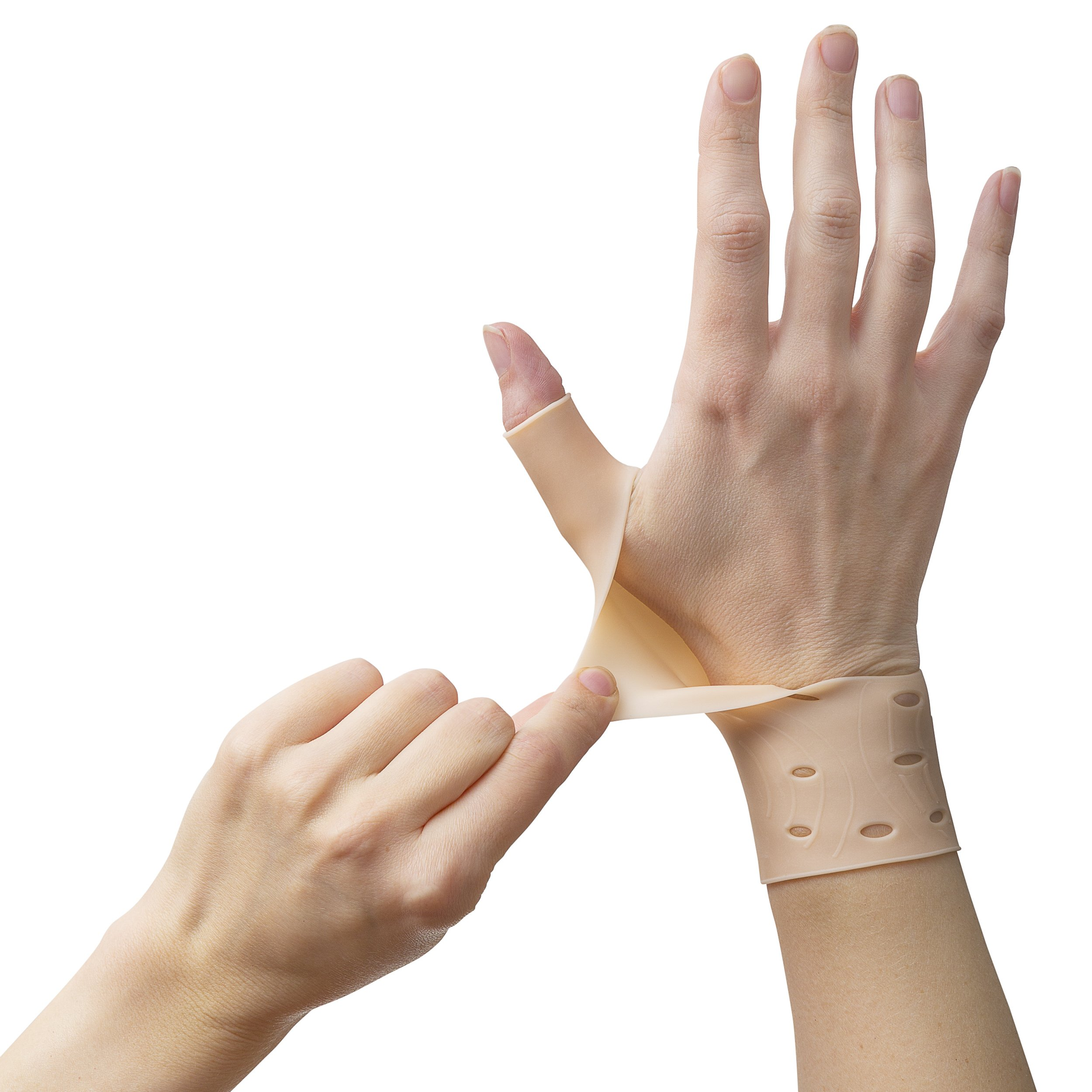 2 Breathable Gel Wrist & Thumb Support Braces for Right & Left Hand | Proven to Relieve Wrist & Thumb Pain Including Arthritis, Rheumatism, Carpal Tunnel | Soft, Comfortable & Light Weight by Excelyfe (Image #9)