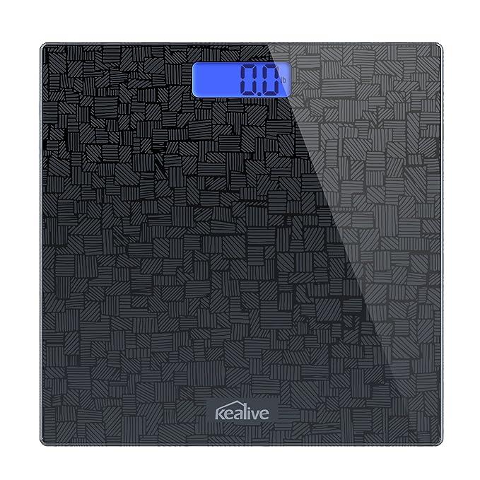 Kealive Báscula de Baño Digital de Alta Medición Precisa 180kg / 400lbs con 300 x 300 x 18 mm Gran Plataforma y LCD Retroiluminación: Amazon.es: Salud y ...