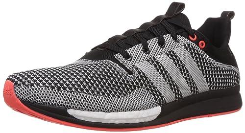 newest 06718 c14c5 adidas Adizero Feather Boost M - Zapatillas de atletismo para hombre, negro    gris   rojo, Negro   Blanco, 48  Amazon.es  Zapatos y complementos