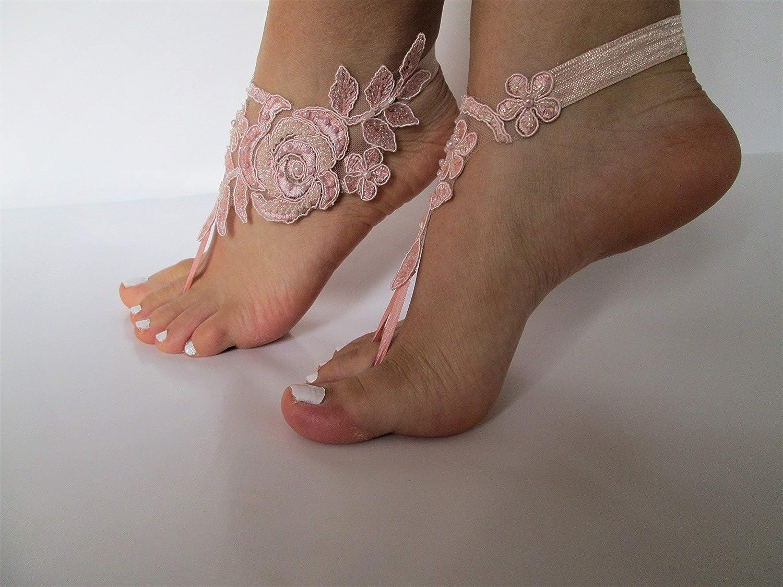 b54715880713 Amazon.com  Beach wedding barefoot sandals