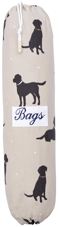 EXTRA LARGE Labradors su un grigio talpa con BIANCO POIS GAMMA DI COLORI SHABBY CHIC VINTAGE PORTA SACCHETTI IN PLASTICA (varie misure) Izabela Peters