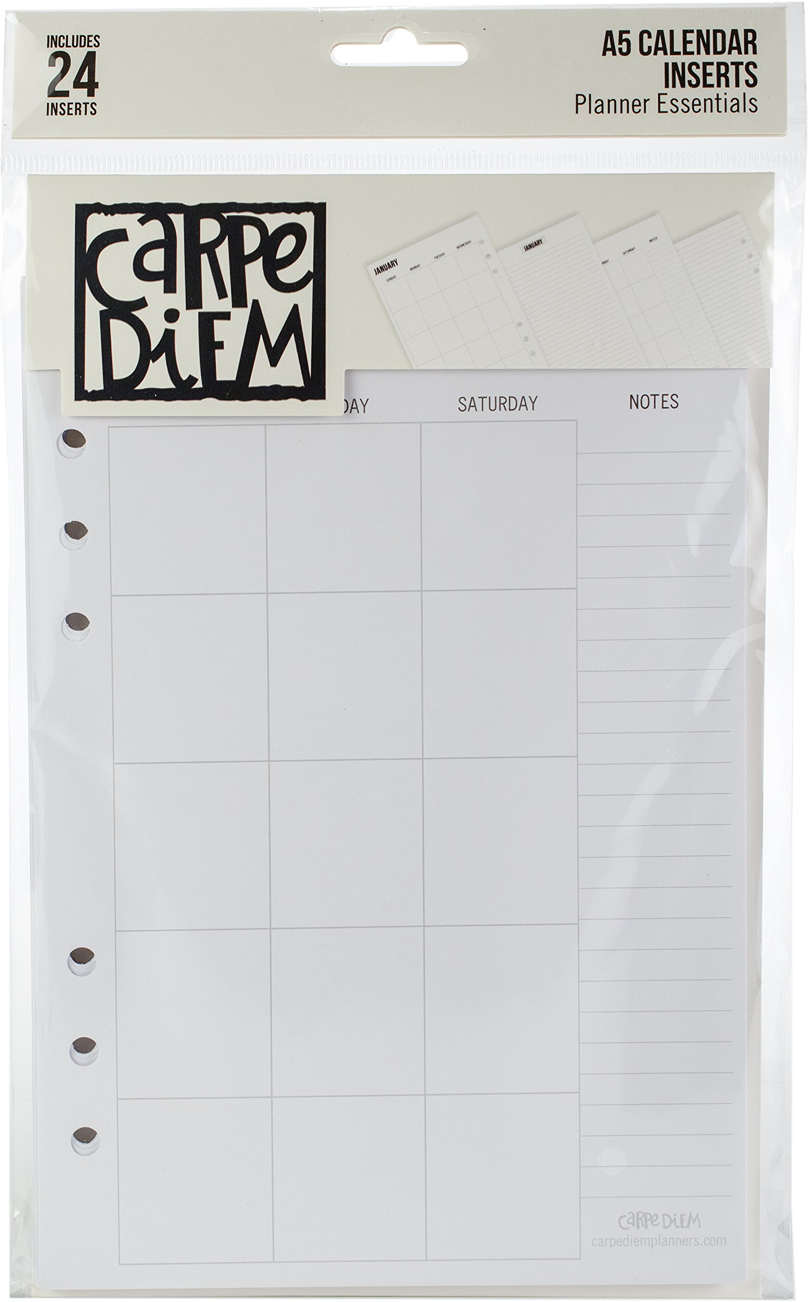 Simple 10185 Carpe Diem A5 Planner Double-Sided Inserts Multicolor