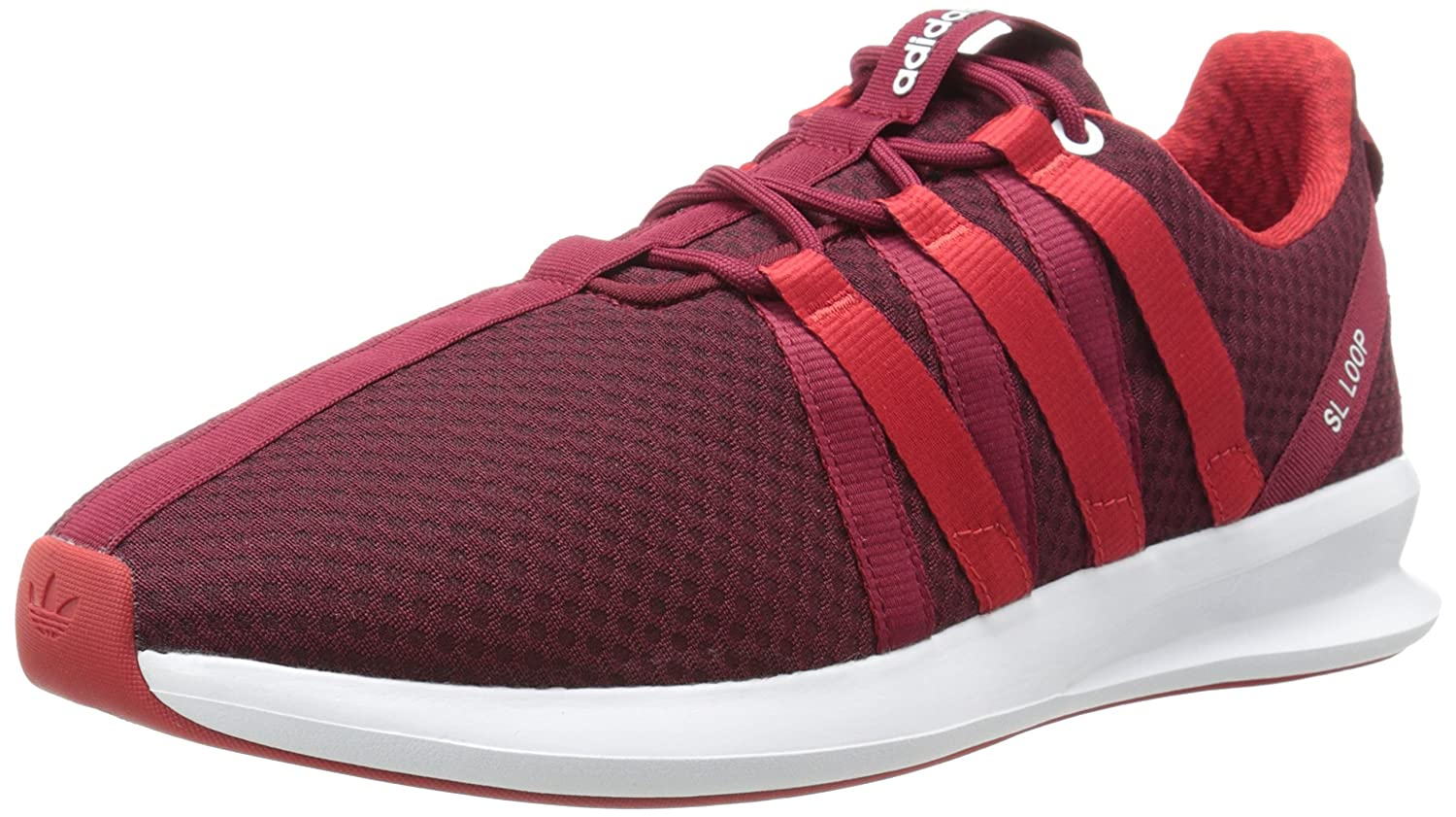 Adidas Originals Men's SL Loop Lifestyle Racer Turnschuhe, Collegiate Burgundy Light Scarlet Running Weiß, 11 M US