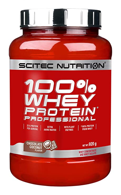 Scitec Nutrition Whey Protein Professional proteína chocolate-coco 920 g