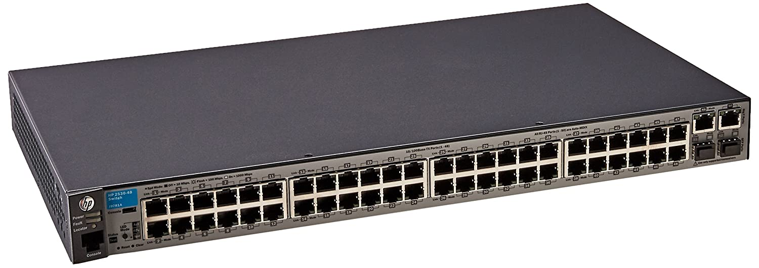 Amazon.com: HPE Networking BTO J9781A#ABA Aruba 2530 48 SWITCH: Computers &  Accessories