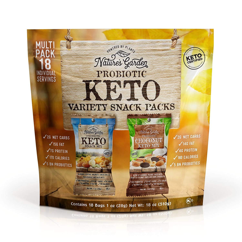 Nature's Garden Keto Variety Snack Packs - 18oz (Pack of 1)