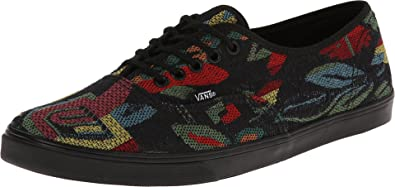 bacdf71c5a Vans Unisex Authentic Lo Pro (Tapestry Floral) Black Black Sneaker Mens 3.5