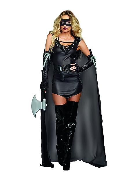 Amazon.com: Dreamgirl Disfraz de asesino mortal para mujer ...