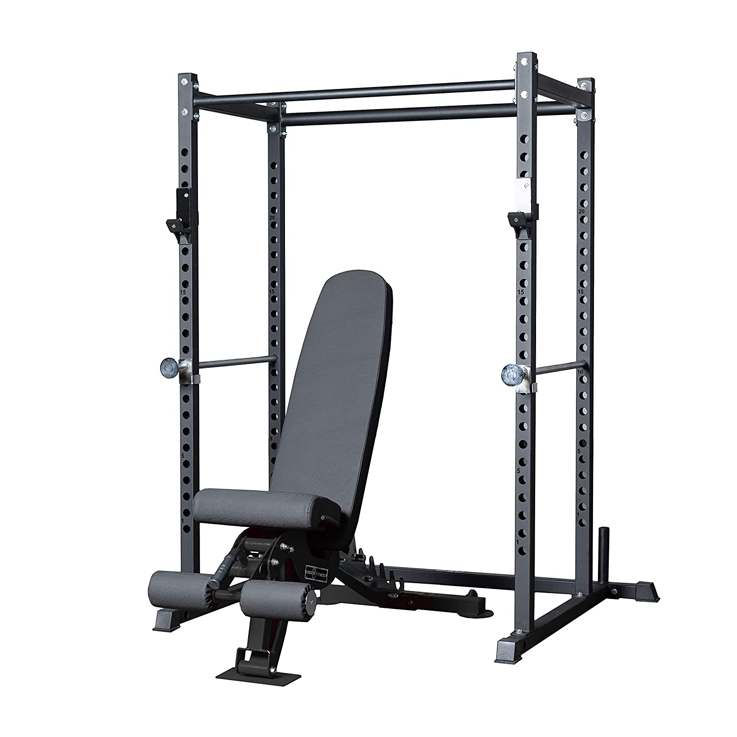 Flat Bench PR-1050 REP FITNESS Short Power Rack 72 inches with Optional Dip Attachment Adjustable Bench