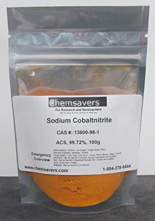 Amazon.com: Cobaltnitrito de sodio, ACS, 99,72%, certificado ...