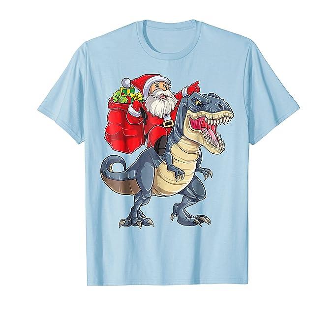 mens christmas shirts for boys kids santa dinosaur t rex xmas tee 2xl baby blue - Christmas Shirts For Boys